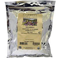 Starwest Botanicals, Корень имбиря, 1/4, измельченный и просеянный, органический, 1 фунт (453,6 г)