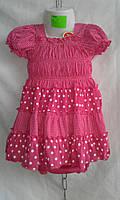 Платье детское с трусиками для девочек 1-5 лет,малиновое