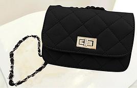 Женская сумка-клатч в дизайне Chanel 3 цвета черный