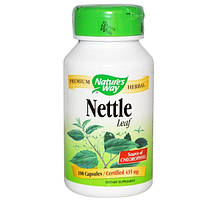 Natures Way, Nettle Leaf, 435 мг, 100 капсул