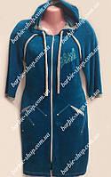 Женский халат с капюшоном в расцветках 61276