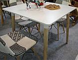 Стол обеденный Nolan DT-9017 прямоугольный белый, деревянные  ножки, копия Mario Cellini Halo Dining Table, фото 8