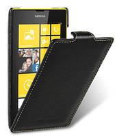 Кожаный чехол Melkco для Nokia Lumia 520 / 525 черный, фото 1