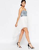 Оригинальное летнее платье: джинсовый лиф + асиметричная юбка.Англия