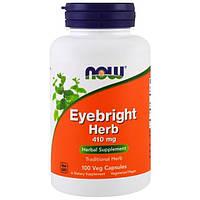 Now Foods, Трава очанка лекарственная, 410 мг, 100 растительных капсул