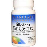 Planetary Herbals, Комплекс для глаз с черникой, 404 мг, 60 таблеток