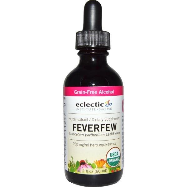 Eclectic Institute, Organic, Feverfew , 2 fl oz (60 ml)