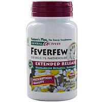 Natures Plus, Растительная активность, пиретрум девичий, замедленное высвобождение, 500 мг, 60 таблеток