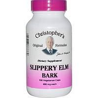 Christophers Original Formulas, Кора вяза ржавого, 400 мг, 100 растительных капсул
