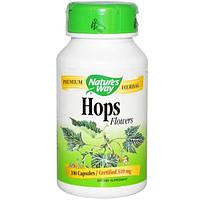 Natures Way, Соцветия хмеля, 310 мг, 100 капсул