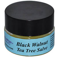 WiseWays Herbals, LLC, Мазь из черного ореха и чайного дерева, 1/4 унции (7,1 г)