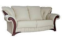 """Стильный кожаный диван """"Mayfaer"""" (Майфаер) Трехместный (218 см), Американская раскладушка, ткань, Классический"""