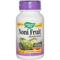 Natures Way, Плоды нони, нормированный состав, 60 капсул на растительной основе