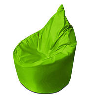 Салатовое бескаркасное кресло мешок Капелька из ткани Оксфорд