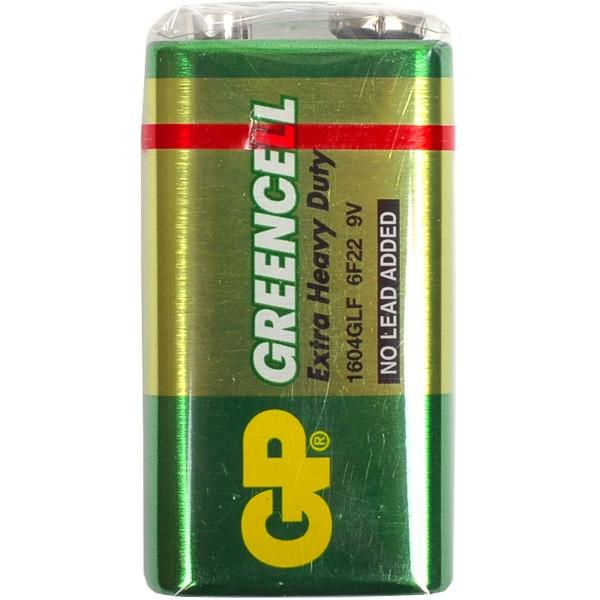 Батарейка GP GREENCELL  1604S-S1 солевая 6F22 крона 9V