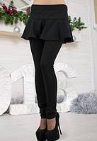 Женские черные лосины с юбкой f-t6112260