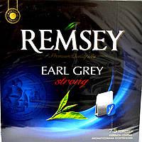 Черный Чай Remsey Earl Grey Strong 75 пакетиков.
