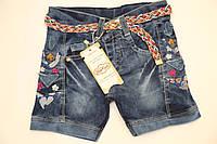 Джинсовые шорты с вышивкой, размер 3-6лет