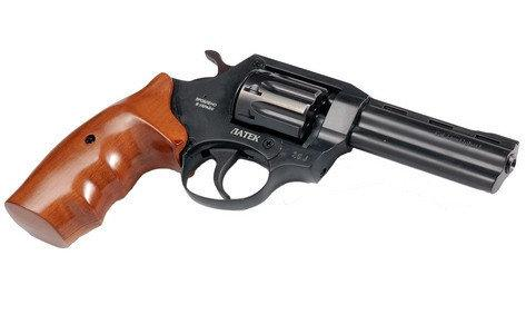 "Револьвер Safari РФ 441 орех, 4"". Револьвер флобера Latek. Револьвер под патрон Флобера 4 мм."