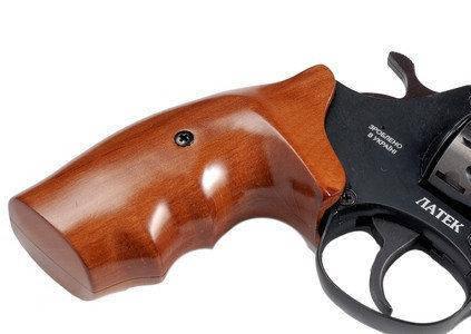 "Револьвер Safari РФ 441 орех, 4"". Револьвер флобера Latek. Револьвер под патрон Флобера 4 мм., фото 2"