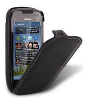 Кожаный чехол Melkco для Nokia C7 черный