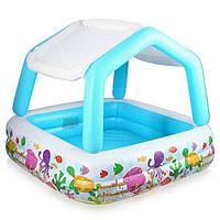 Детский надувной бассейн с крышей Intex 57470: винил, надувное дно, высота борта 38 см