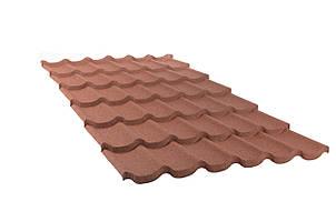 Металочерепица композитная 10 Standart Terra cotta (0,45) 6 тайл Queen Tile