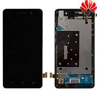 Дисплейный модуль (дисплей + сенсор) для Huawei Honor 4C, с передней панелью, черный, оригинал