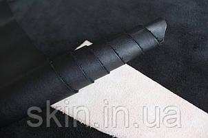 """Натуральная кожа """"Наппа"""" для кожгалантереи и обуви черная, толщина 1.2 мм, арт. СК 1045, фото 2"""