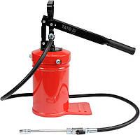 Помпа смазочная, емкостью 4 кг, с соплом со шлангом L-1,5м, макс. 13,8 MPa, YATO YT-07061