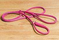 Ринговка 183см/6мм кожаная круглая для собаки, разные цвета