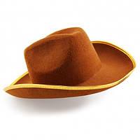 Шляпа Ковбоя коричневая