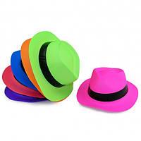 Шляпа Мужская с лентой Флок