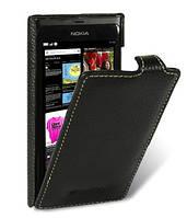 Кожаный чехол Melkco для Nokia N9 черный, фото 1