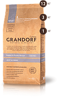 Grandorf (Грандорф) Rabbit & Potato All Breeds 25/15- кролик для взрослых собак 12кг