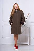 Пальто 515 (темно-коричневый)