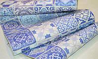 Обои на стену, виниловые, голубые, плитка, B43,4 Витражи 5513-03, супер-мойка, 0.53*10м