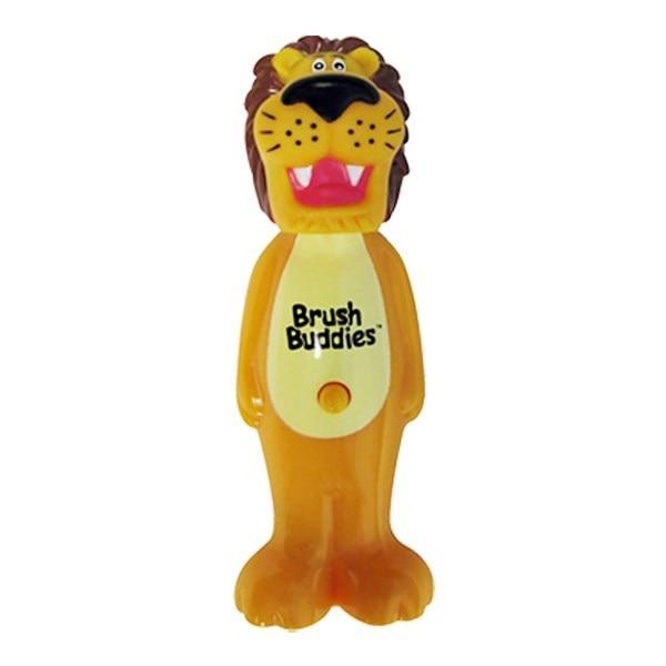 Brush Buddies, Poppin, лев Рикки, мягкая, 1 зубная щетка