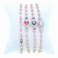 Браслет для женщин с разноцветными кристаллами