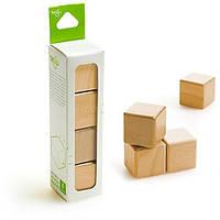 Набор из 4 кубиков (натуральный) Tegu (G-12-004)