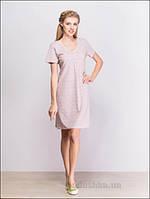 Женское платье МТФ 03902 цветочек розовый 54