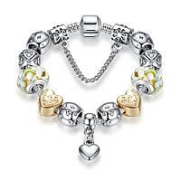 Браслет женский 6381 Пандора (все размеры) Pandora с шармами