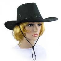 Шляпа Ковбоя замша черная
