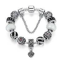 Браслет женский 6350 Пандора (все размеры) Pandora с шармами