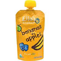 Ellas Kitchen, Бананы + яблоки, 3,5 унции (99 г)