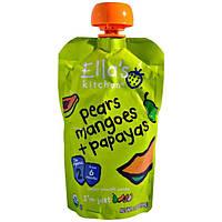 Ellas Kitchen, Сверх-нежное пюре, органические груши, манго и папайя, 3,5 oz (99 г)