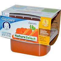 Gerber, 1st Foods, Выбор природы, Морковь, 2 пачки, каждая по 2,5 унции (71 г)