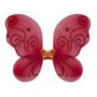 Крылья Бабочки маленькие красные 38х29 см