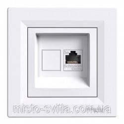 Розетка компьютерная RJ45 кат. 5Е UTP 1 гнездо белый Sсhneider Electric Asfora Шнайдер Асфора