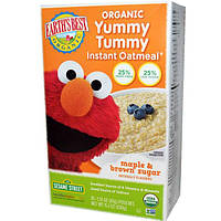 Earths Best, Органическая овсяная каша Yummy Tummy быстрого приготовления, с кленовым сиропом и коричневым сахаром, 10 пакетиков, по 1,51 унции (43